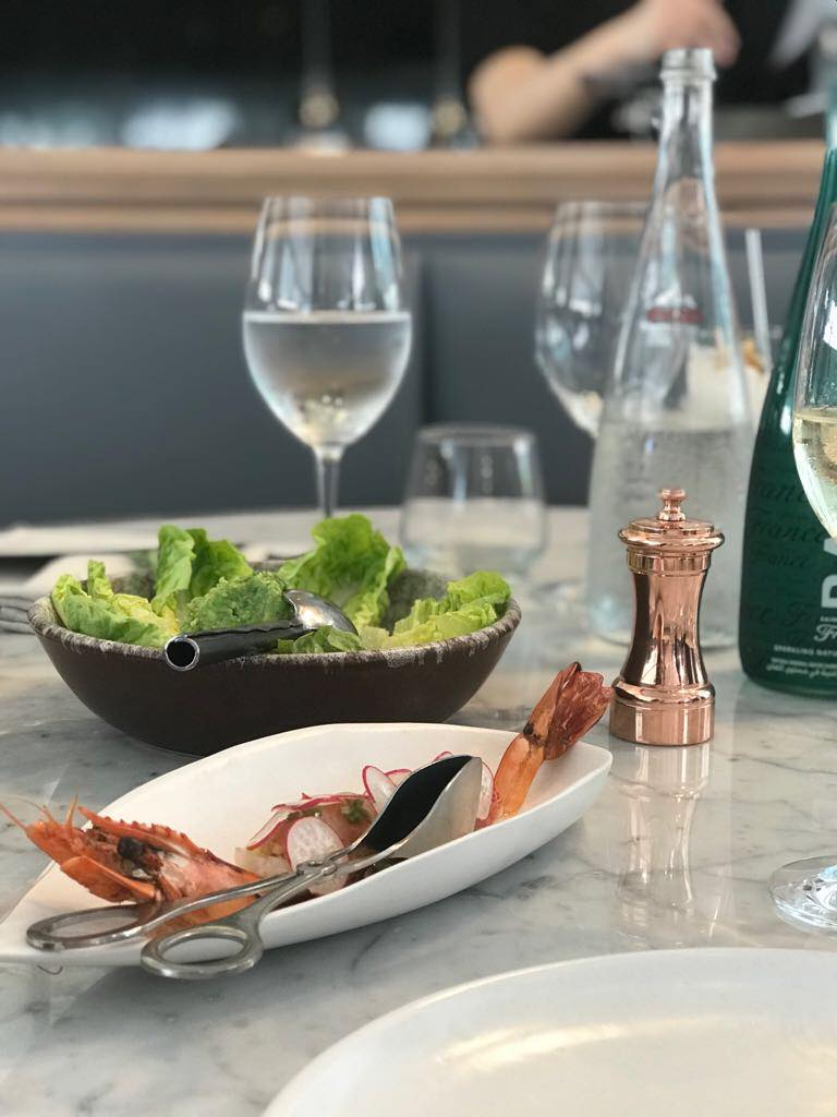 The GARDEN BRUNCH at Sean Connolly at Dubai OPERA | The Luxe Diary Review Prawn