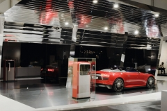 "Audi exhibits futuristic ""e-den"" charging station created by Munich-based graphic design studio Mirko Borsche at Design Miami"