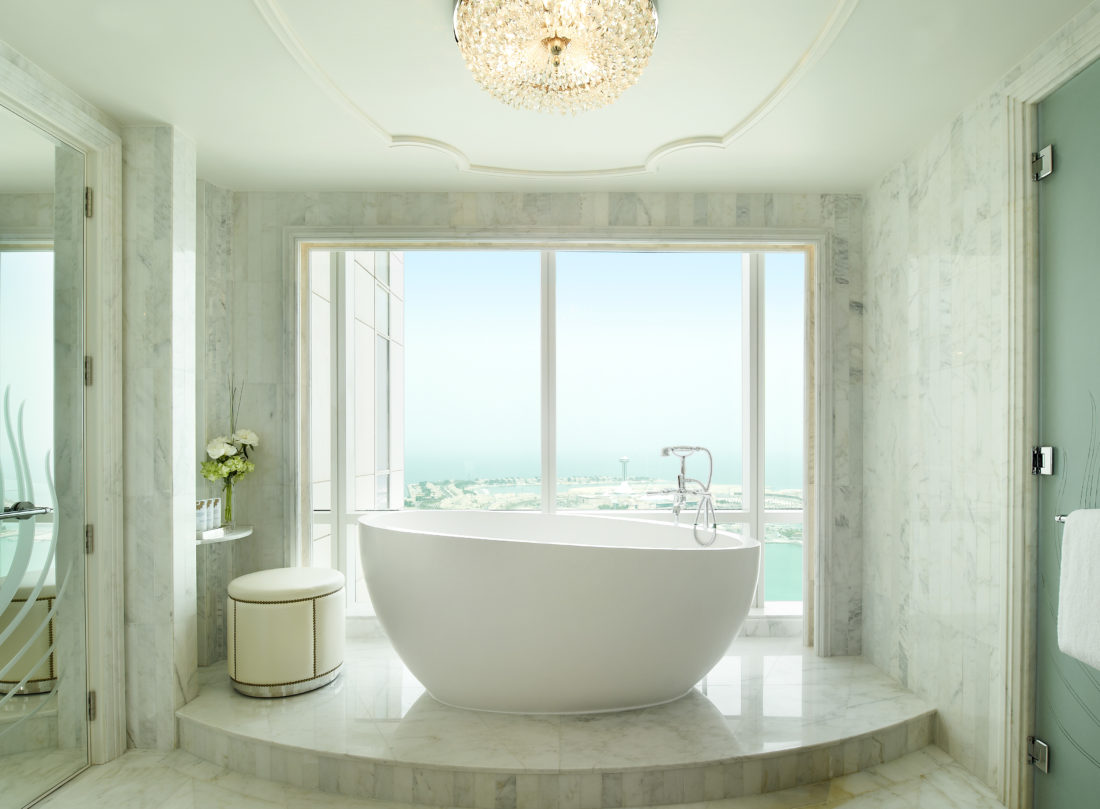 Grand Deluxe Suite Bathroom The Luxe Diary Review St Regis Abu Dhabi
