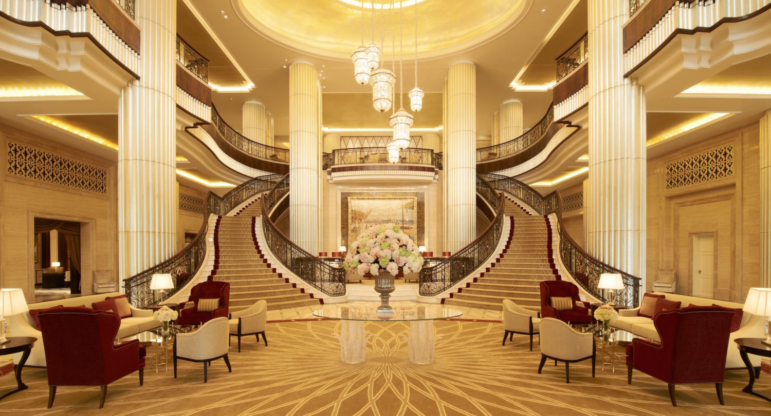 St Regis Abu Dhabi The Luxe Diary Review Lobby