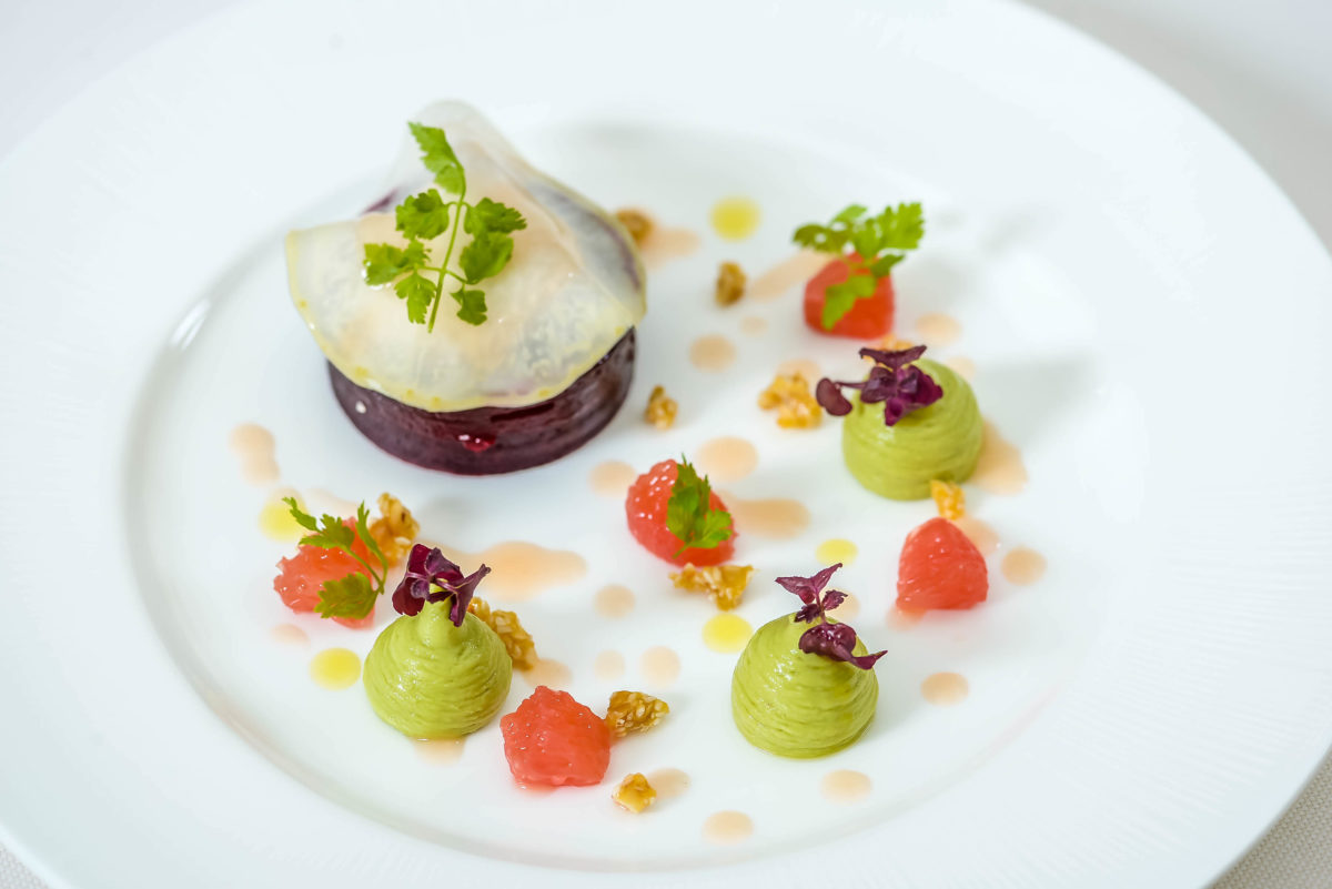 Rhodes W1 New Menu - Beetroot and Goats Cheese Starter