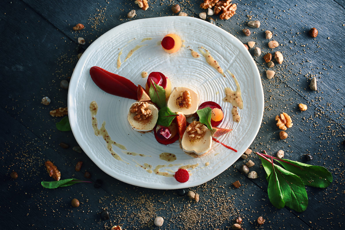 Goats cheese beetroot salad