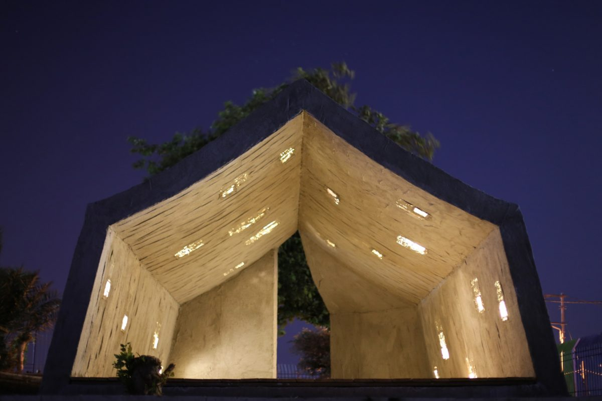 Concrete Tent - Design by DAAR - Photos Anna Sara for Campus in Camps