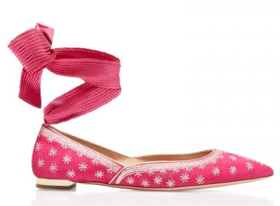 Aquazzura Ballerinas Bliss ballet Azalea pink Suede - The Luxe Diary's Valentine's Gift List