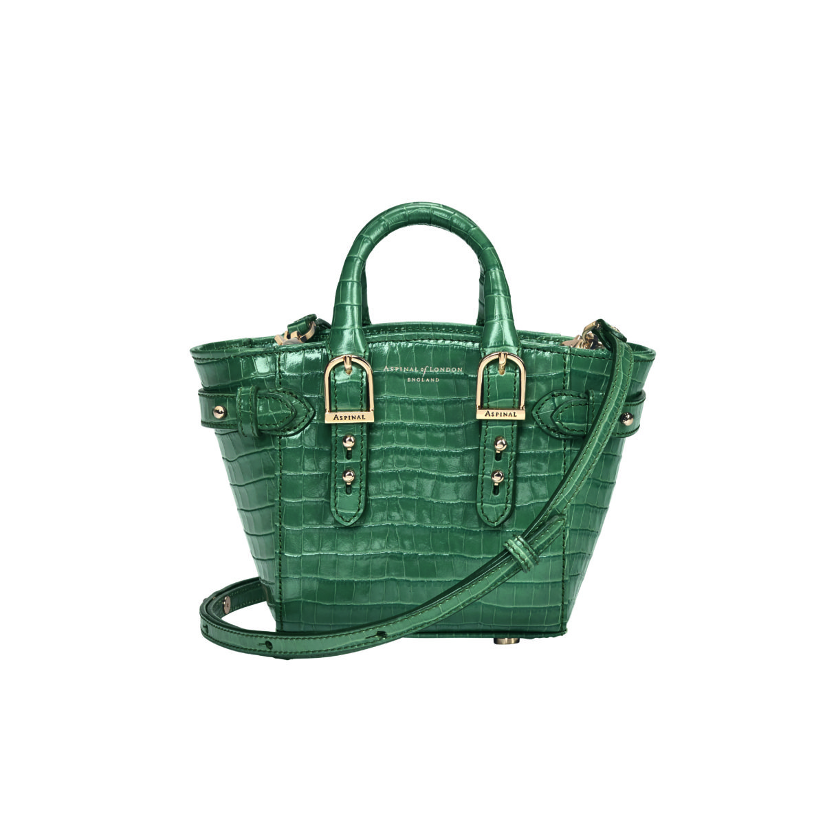 Micro Marylebone Tote Sage Croc - Aspinal SS18