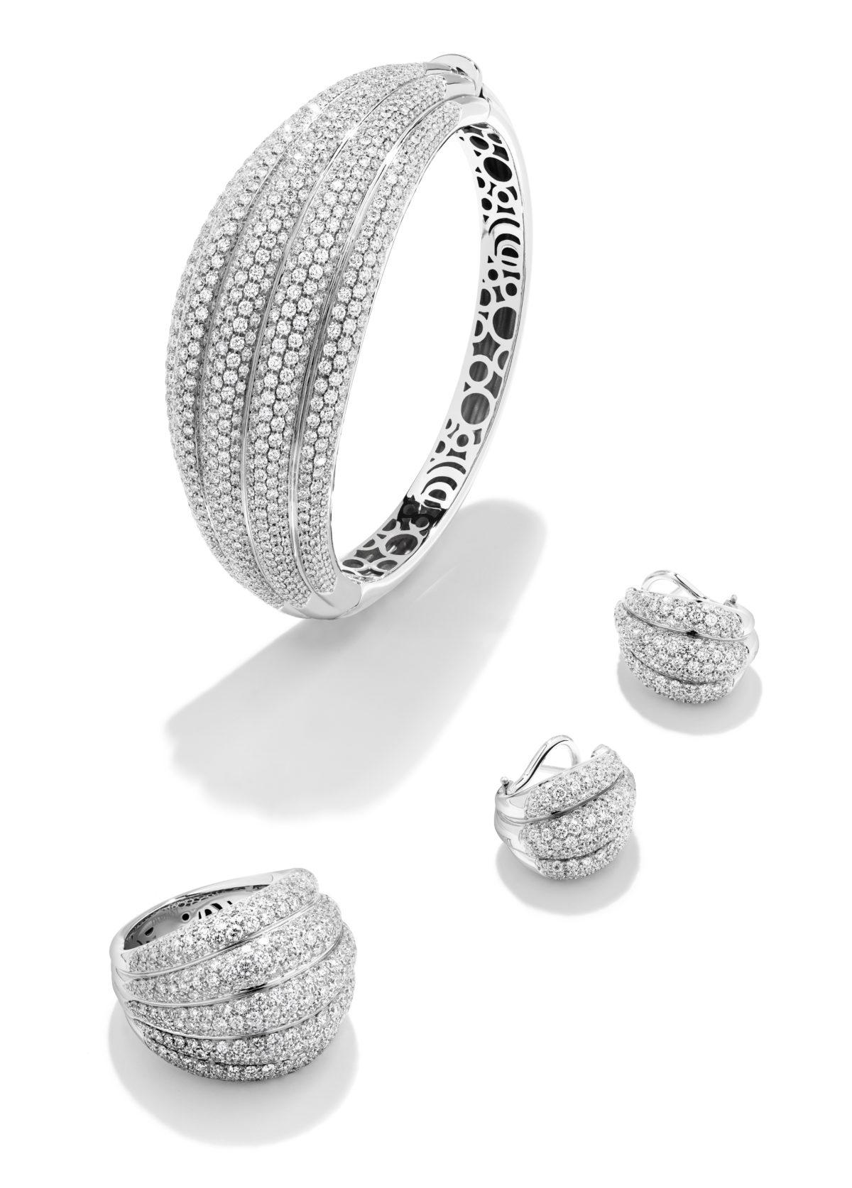 DAMIANI SPICCHI DI LUNA Parure in oro bianco e diamanti_Set in white gold and diamonds