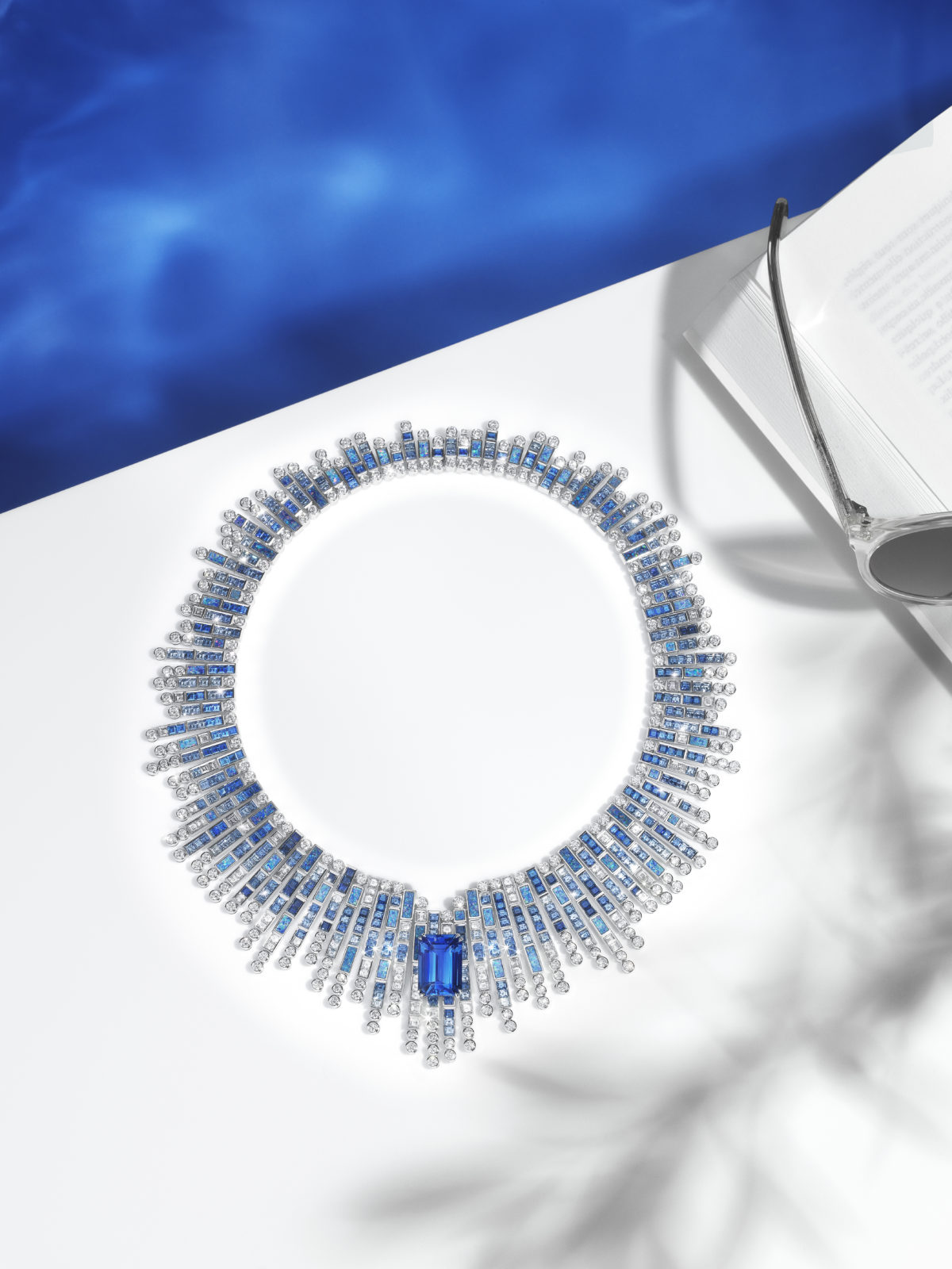Piaget Sunlight Journey Art Dubai Blue Sapphires