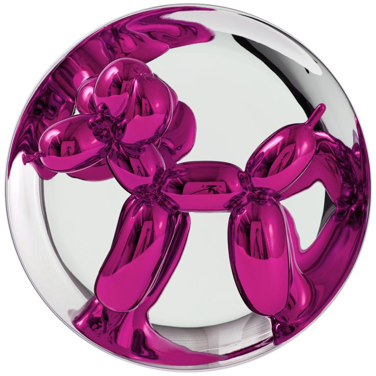 KOONS_Balloon dogs plate magenta copyright © Jeff Koons