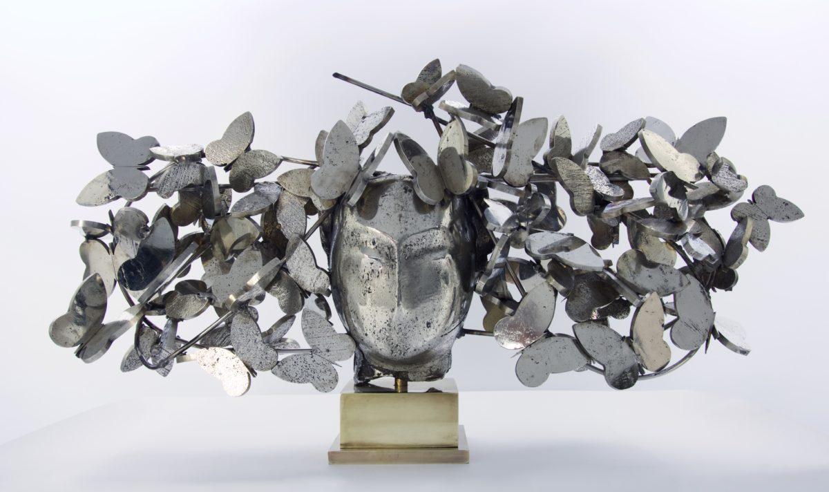 Mariposas Plateadas II 20x45x12 White Bronze 2017