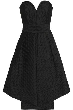 The Outnet MILLY Strapless pleated cloqué dress £ 310 Was £ 620