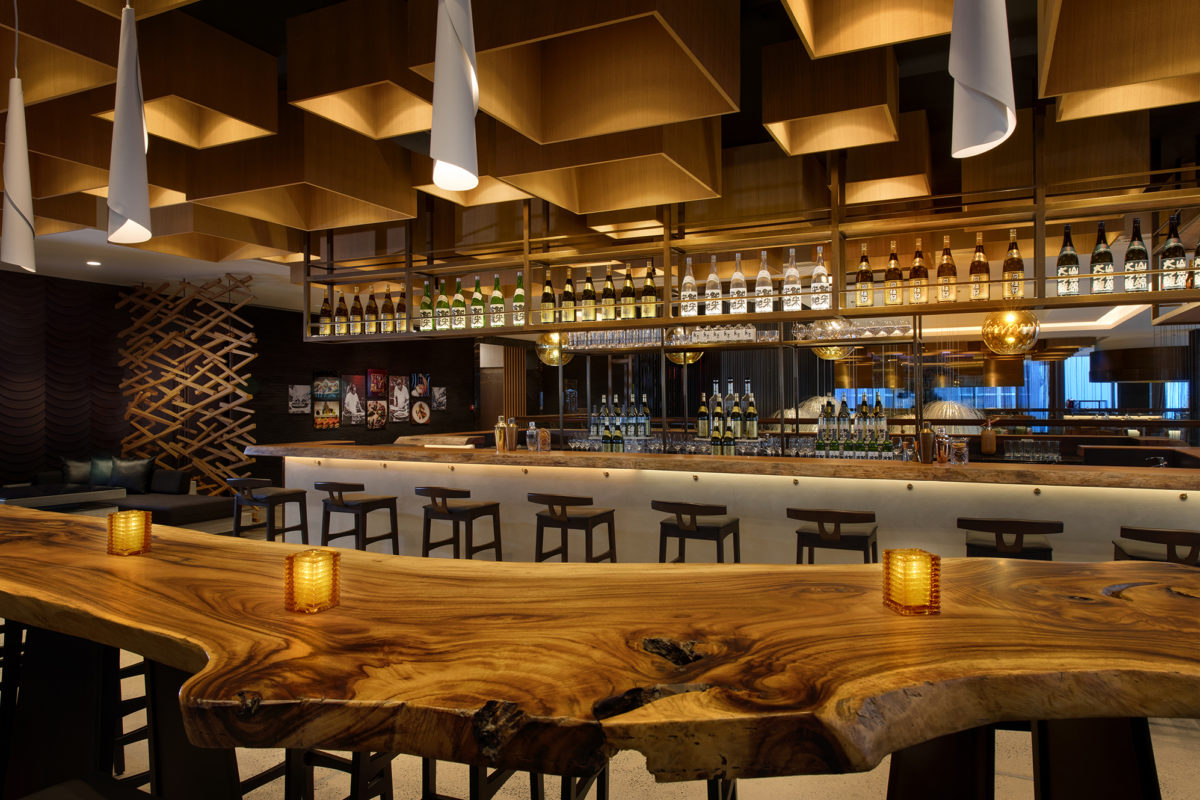 Morimoto Bar Area | The Luxe Diary Review | Dubai Event Launch Sushi