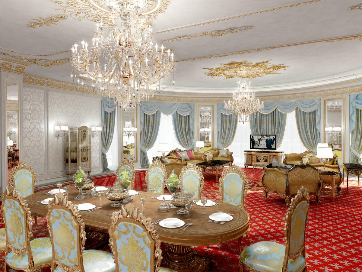 Presidential Suite Living Room | Luxury Hotel Emerald Palace Kempinski Dubai