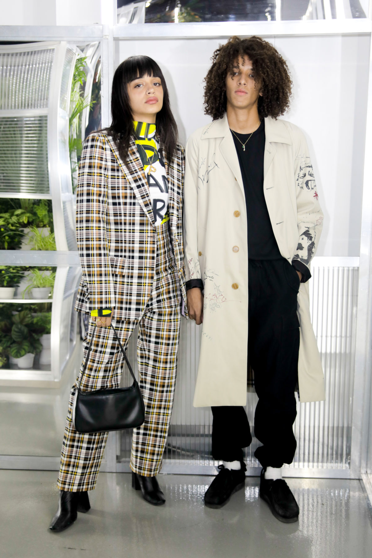 Parvanne Barret & Wathek Allal at the opening event of The Burberry Conservatory in Dubai