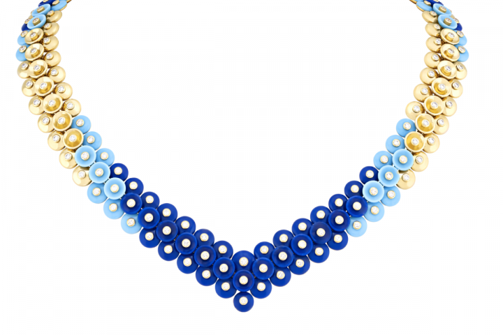 Dazzling Trio Colors of Bouton D'or jewelry collection of Van Cleef & Arpels | The Luxe Diary