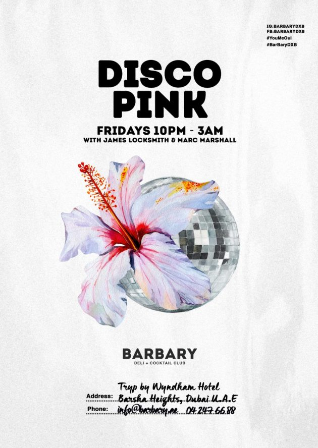 Disco Pink Fridays at Barbary in October | The Luxe Diary